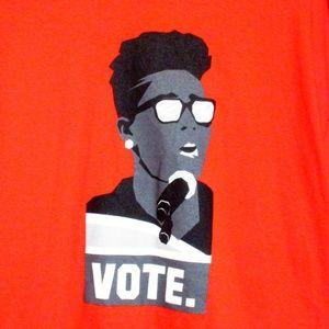 Bright Red VOTE T-shirt NWOT XL